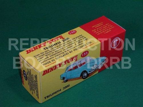 Dinky #135 Triumph 2000 - Reproduction Box